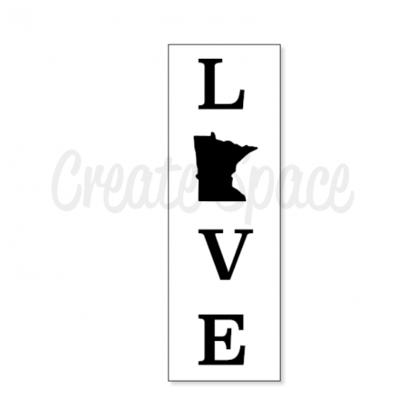 Love MN Vertical Stencil