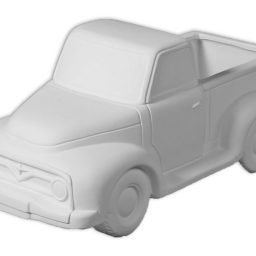 Bisque Ceramic Truck Planter