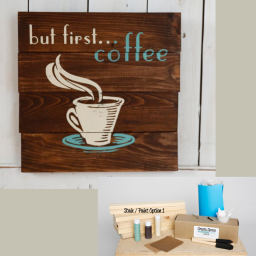 But first coffee pallet sign kit