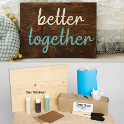 Better together wood sign pack